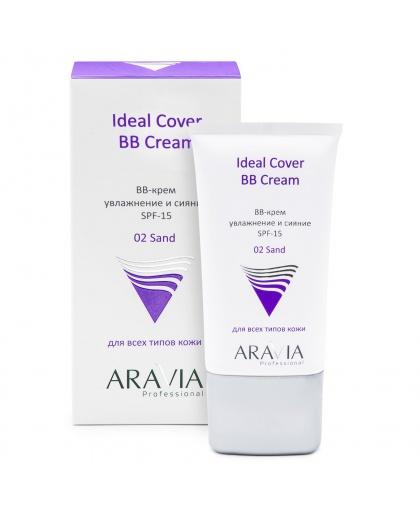 ARAVIA Professional крем для лица BB увлажняющий SPF-15 Ideal Cover BB-Cream Sand 02, 50 мл, ARAVIA Professional