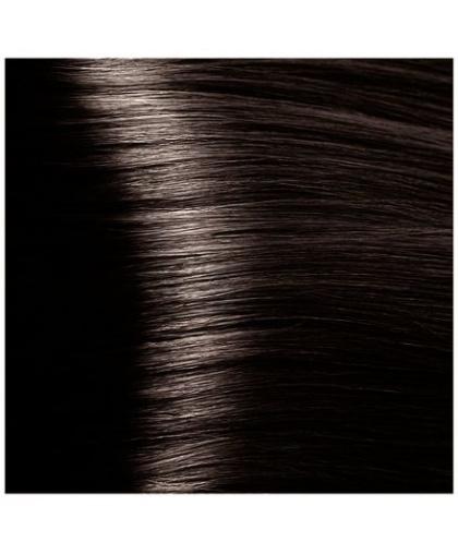 Крем-краска для волос Kapous Fragrance free «Magic Keratin» с кератином «Non Ammonia» NA 4.00 Коричневый интенсивный , 100 мл