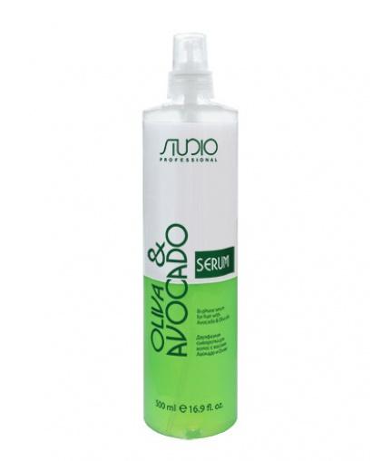 Двухфазная сыворотка Kapous Studio Professional для волос с маслами Авокадо и Оливы, 500 мл