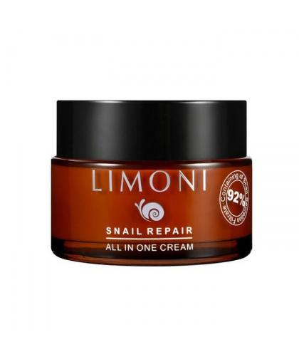 Крем для лица восстанавливающий с экстрактом секреции улитки Limoni Snail Repair All In One Cream 50 мл