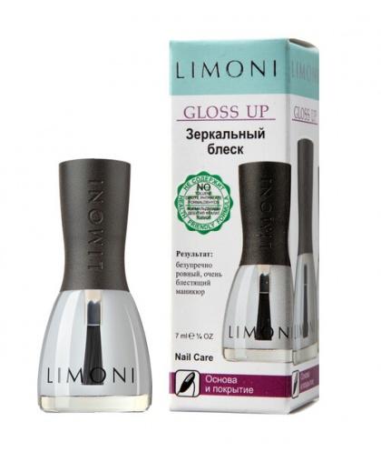 Основа и покрытие Gloss Up Зеркальный блеск 7 мл, Limoni