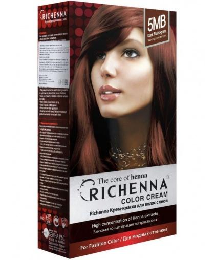 Крем-краска Richenna для волос с хной 5MB (Dark Mahogany)