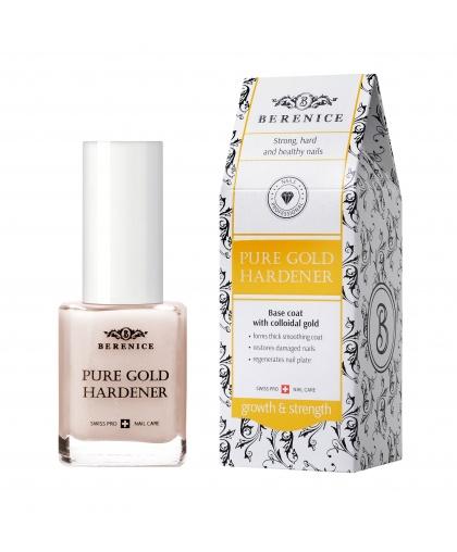 """Укрепляющее средство для ногтей с золотом """"Pure gold hardener"""" 15 мл, Berenice Limoni"""