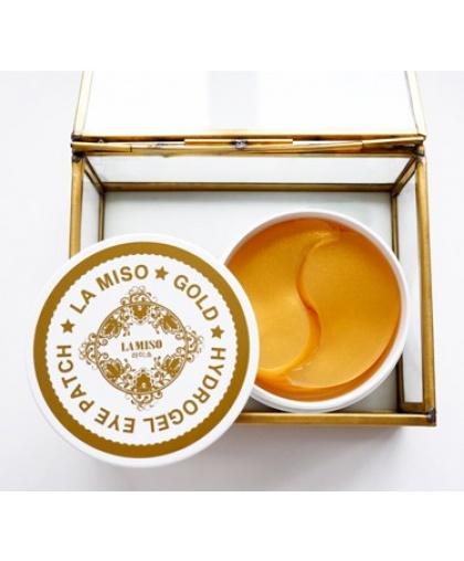 LA MISO Гидрогелевые патчи с частицами золота для кожи вокруг глаз, 60 шт