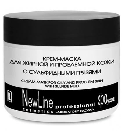 NewLine Крем-маска для жирной и проблемной кожи лица с сульфидными грязями 300 мл