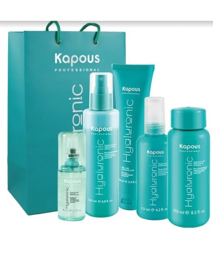 Набор для восстановления и омоложения волос с гиалуроновой кислотой «Hyaluronic Acid» Kapous