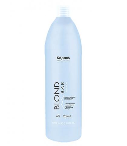 """Кремообразная окислительная эмульсия Kapous Professional «Blond Cremoxon» с экстрактом Жемчуга серии """"Blond Bar"""" 6%, 200 мл"""