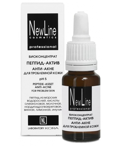 NewLine Биоконцентрат пептид-актив Анти-акне для проблемной кожи, 15 мл
