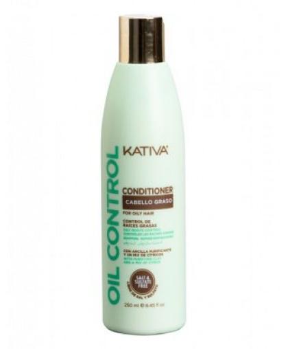 "Kativa OIL CONTROL Conditioner Cabello Graso. Кондиционер ""Контроль"" для жирных волос, 250мл"