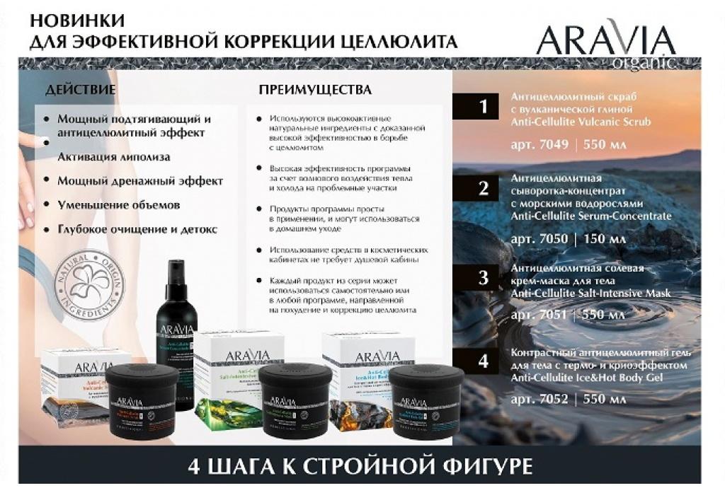 Новинки от ARAVIA Organic Для эффективной коррекции целлюлита!