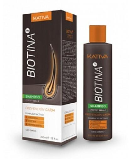 Kativa BIOTINA Шампунь безсульфатный против выпадения волос с биотином 250мл