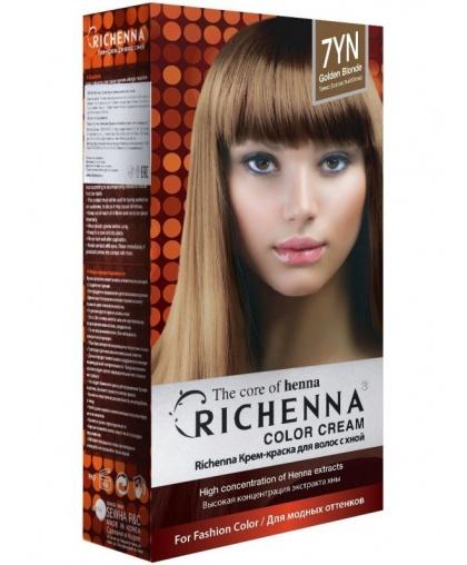 Крем-краска Richenna для волос с хной 7YN (Golden Blonde)