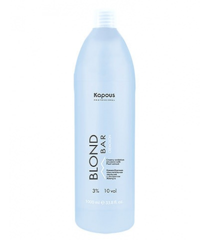 """Кремообразная окислительная эмульсия Kapous Professional «Blond Cremoxon» с экстрактом Жемчуга серии """"Blond Bar"""" 3%, 200 мл"""