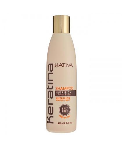 Kativa KERATINA Укрепляющий шампунь с кератином для всех типов волос, 250мл
