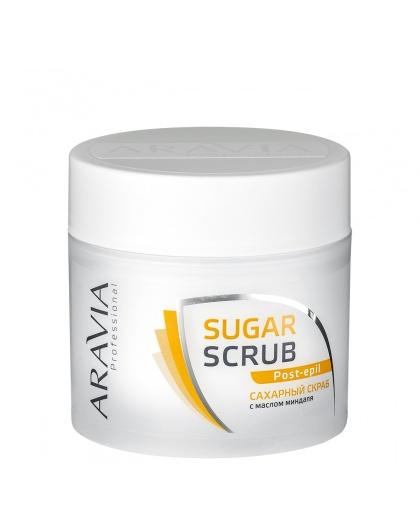 """ARAVIA Professional"" Сахарный скраб с маслом миндаля, 300 мл."