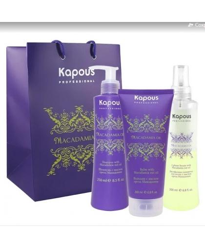 Набор Macadamia Oil для глубокого питания волос Kapous