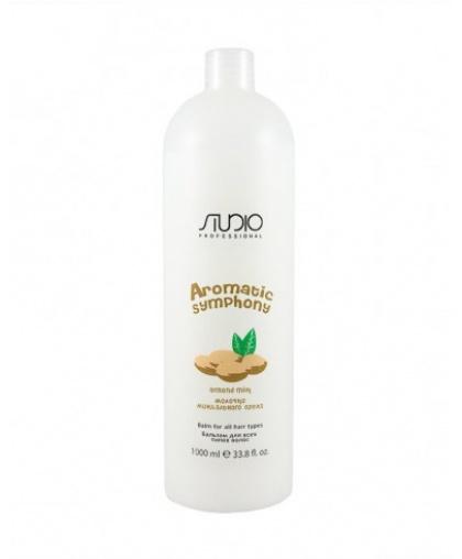 Бальзам Kapous Studio Professional для всех типов волос «Молочко миндального ореха», 1000 мл