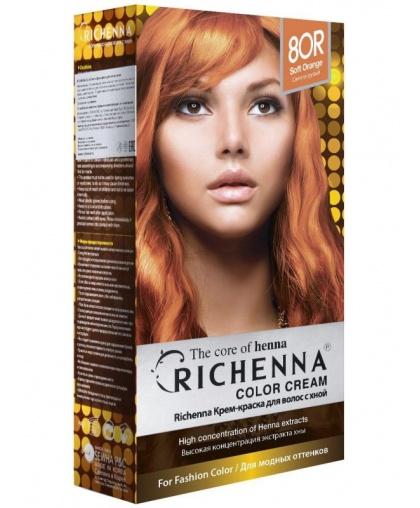 Крем-краска Richenna для волос с хной 8OR (Soft Orange)