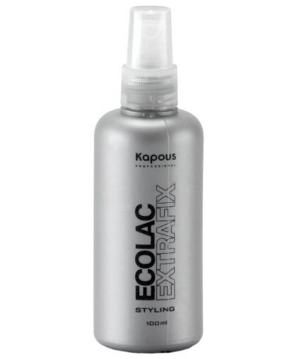 Лак Kapous Professional для волос жидкий сверхсильной фиксации «Ecolac Extrafix», 100 мл