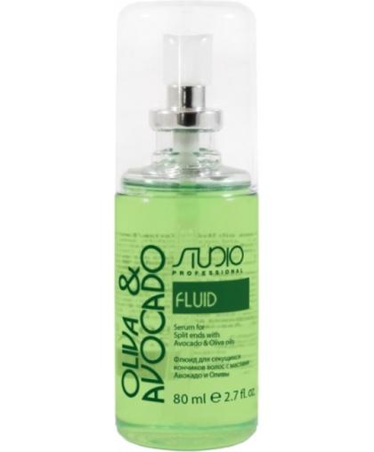 Флюид для секущихся кончиков волос Kapous Studio Professional с маслами авокадо и оливы, 80 мл