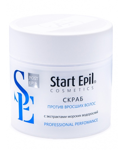 """""""Start Epil"""" Скраб против вросших волос с экстрактами морских водорослей 300 мл"""