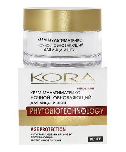 Крем для лица KORA Мультиматрикс ночной обновляющий 50 мл.