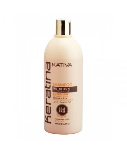 KERATINA Укрепляющий бальзам-кондиционер с кератином для всех типов волос 500 мл Kativa