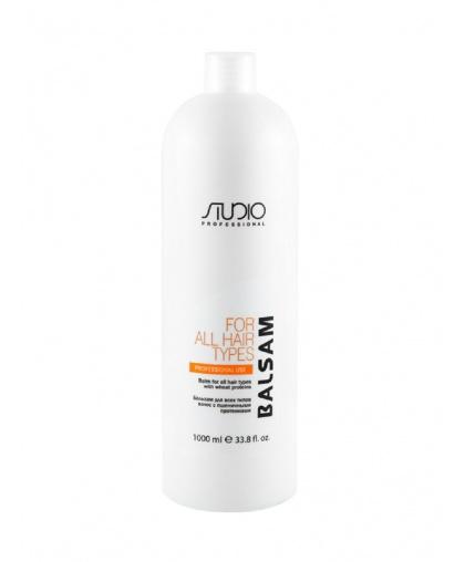 Бальзам для всех типов волос Kapous Studio Professional с пшеничными протеинами, 1000 мл