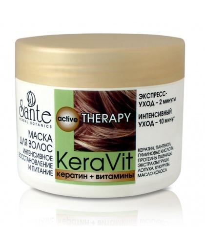 Маска для волос Sante KeraVit интенсивного восстановления и питания, 300 мл.