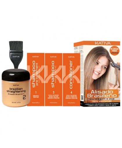 KERATINA Кератиновое выпрямление и восстановление волос с маслом Арганы/набор Kativa