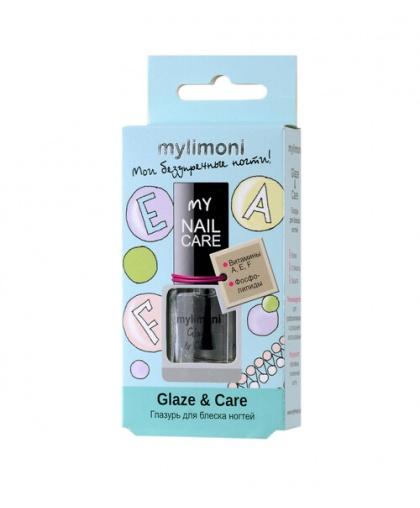 Глазурь для блеска ногтей Glaze & Care 6 мл, Limoni