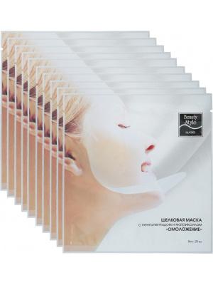 """Шелковая маска с пента-пептидом и гиалуроновой кислотой """"Интенсивное увлажнение"""" Beauty Style, 1 шт"""