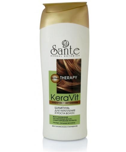 Sante Keravit Шампунь для укрепления и роста волос, 400 мл