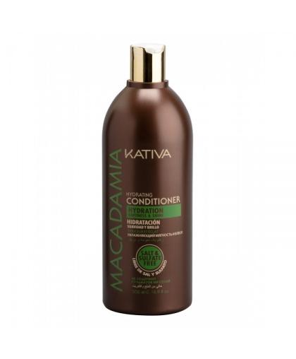 Кондиционер для волос Kativa MACADAMIA интенсивный увлажняющий безсульфатный для нормальных и поврежденных волос, 500мл