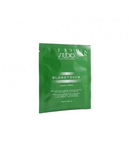 Обесцвечивающий порошок для волос KAPOUS STUDIO PROFESSIONAL «Dust Free» с экстрактом женьшеня и рисовыми протеинами, 30 г