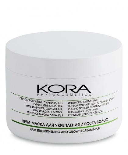 KORA Крем-маска грязевая для укрепления и роста волос, 300 мл