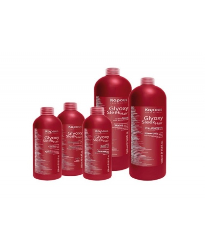 Набор для выпрямления волос с глиоксиловой кислотой «Glyoxy Sleek Hair», Kapous Professional