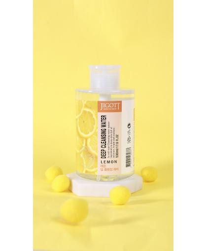 Глубоко очищающая вода с экстрактом лимона 530 мл JIGOTT