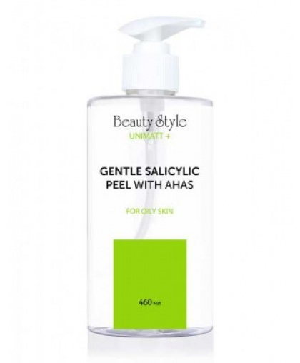 """Салициловый пилинг-скатка с AHA кислотами для жирной кожи """"UNIMATT +"""" 460 мл, Beauty Style"""