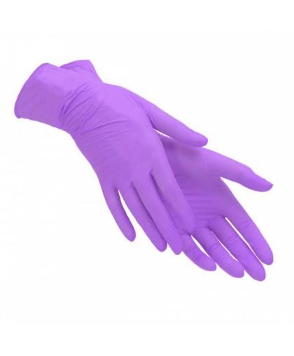 Перчатки виниловые, неопудренные Benovy, уп. 50 пар (100шт), размер S