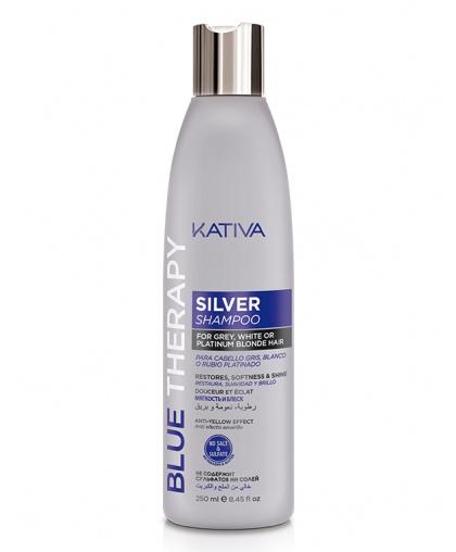 BLUE THERAPY Шампунь нейтрализатор желтизны для осветленных и мелированных волос 250мл Kativa