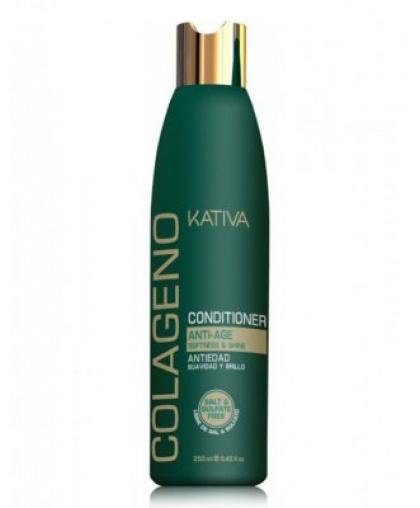 Kativa COLLAGENO Коллагеновый безсульфатный кондиционер для волос, 250мл