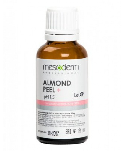 Химический пилинг MESODERM Almond Peel Алмонд Пил + (Миндальная и коевая кислота, 30%+2%, Ph 1,5 ) 30 мл