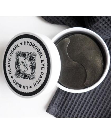 LA MISO Гидрогелевые патчи с черным жемчугом для кожи вокруг глаз, 60 шт