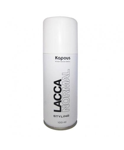Лак аэрозольный для волос Kapous Lacca Normal нормальной фиксации, 100 мл