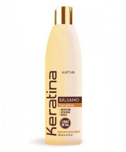 Kativa KERATINA Укрепляющий бальзам-кондиционер с кератином для всех типов волос 250мл
