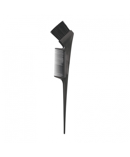 Кисть с расческой  (черная) для окрашивания волос Kapous