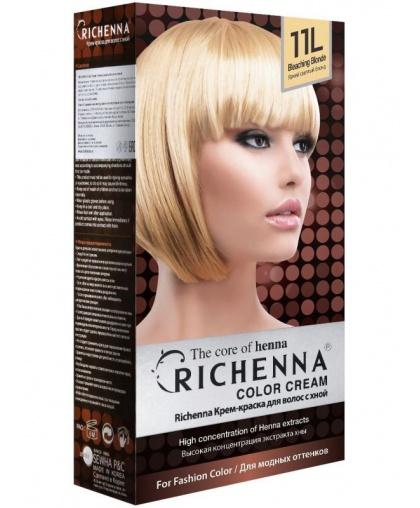 Крем-краска Richenna для волос с хной 11L (Bleaching Blonde)