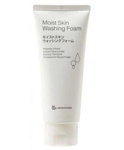 Пенка очищающая плацентарная Bb Laboratories с увлажняющим эффектом/Moist Skin Washing Foam 100г