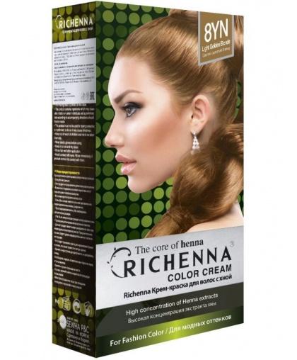 Крем-краска Richenna для волос с хной 8YN (Light Golden Blonde)